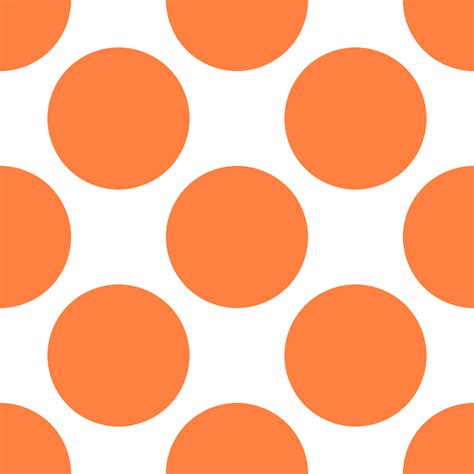 orange pattern png free vector graphic dots dotted orange spots large