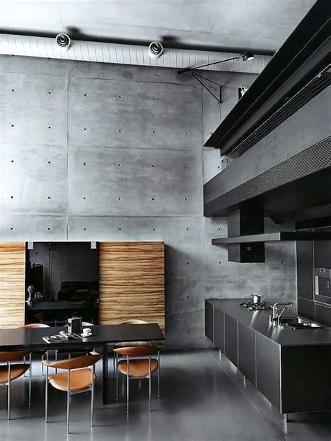 home interior wall concrete accent wall interior design ideas