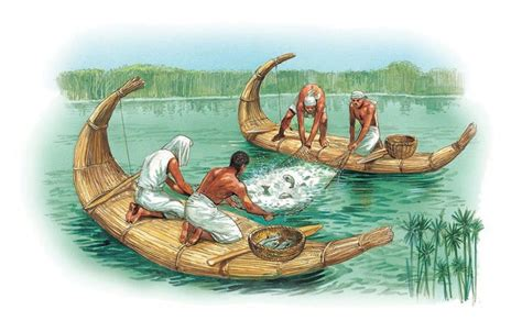 ancient egypt boats and transportation fishing on the nile q files o ancient people