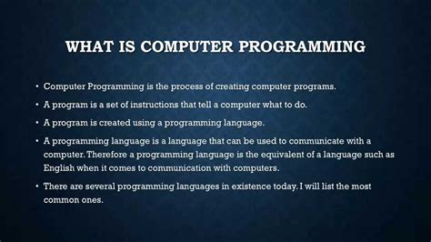 one programming computer programming 1 introduction to computer