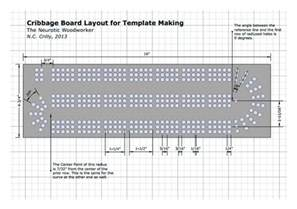 Cribbage Board Template by Cribbage Board Template Another Cool Idea