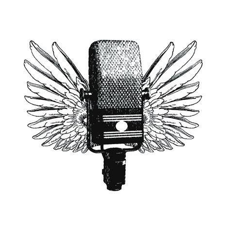 microphone wings tattoo pop art microphone google search microphone pinterest