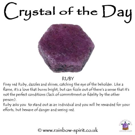 crystal properties crystal healing properties of ruby minerals and crystals