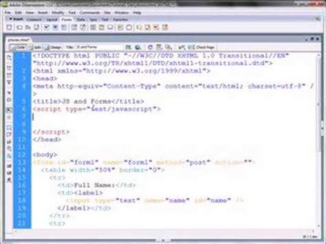 tutorial javascript dreamweaver dreamweaver tutorial javascript and form interaction