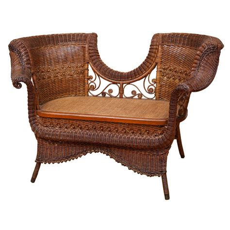 wicker settee furniture antique victorian vanderbilt settee at 1stdibs