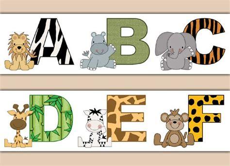 printable jungle letters 1000 images about alphabet letter wall decor on pinterest