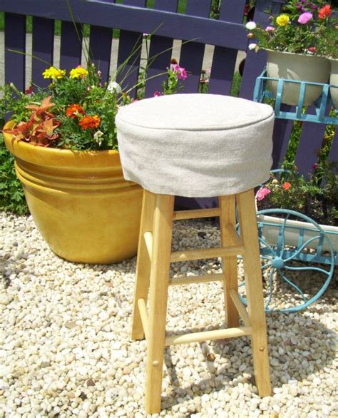 round bar stool slipcovers linen round barstool slipcover with cushion 12 inch bar