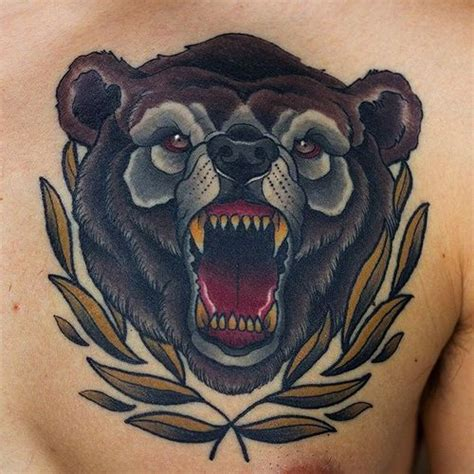 traditional bear tattoo stunning grizzly ideas the 2018
