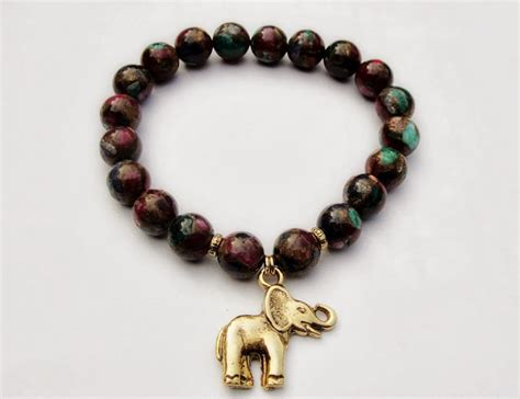bead boys honor of the elephant bead bracelet w gold