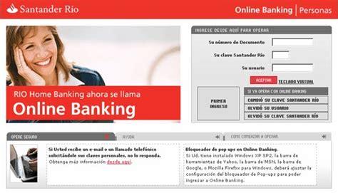 on line banco santander santander r 237 o