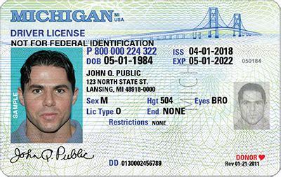 michigan id card template sos real id