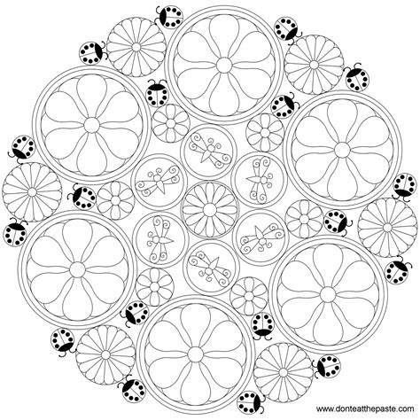 intricate floral coloring pages free coloring pages of intricate mandalas