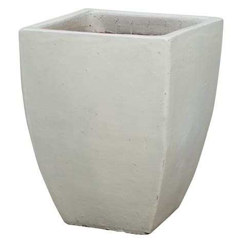 Square Ceramic Planter by Emissary Square Planter White Xlarge