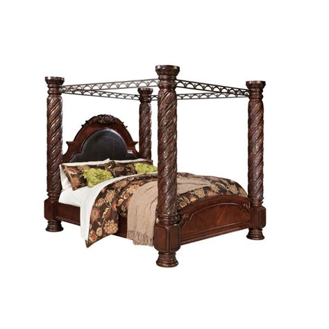 north shore canopy bedroom set b553 172 ashley furniture king poster bed with canopy