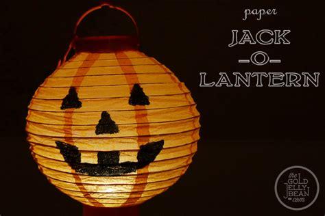 O Lantern Paper Craft - o lantern the gold jellybean