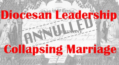 diocesan leadership collapsing marriage marys advocates
