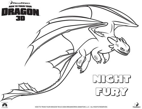 nightfury coloring pages hellokids com