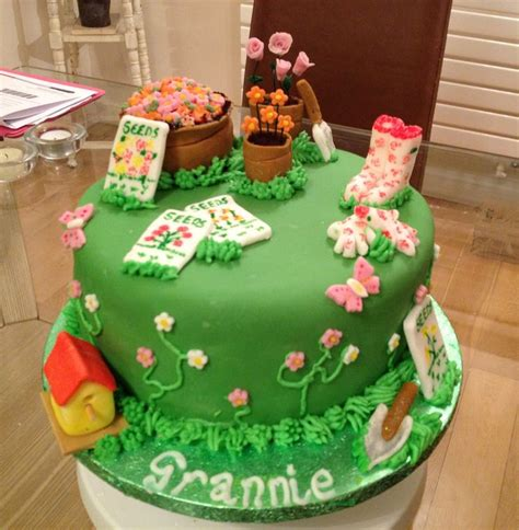 Garden Cakes Ideas Gardening Themed Cake Garden Themed Cake Ideas Pinterest Garden Cakes Cake Decorating