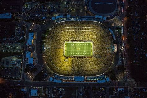 michigan big house night game at the big house michigan football pinterest night big houses and house