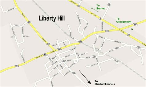 liberty hill texas map directions to kennel