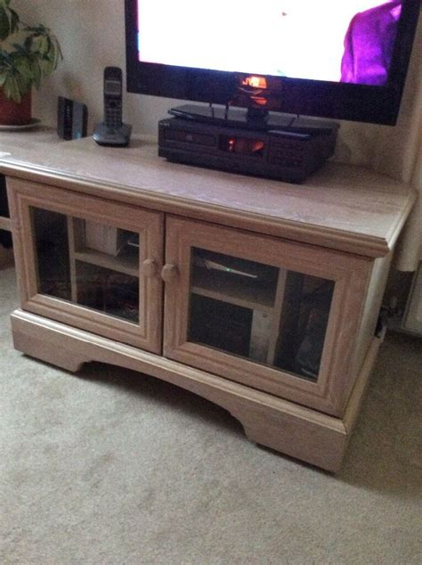 Quality TV Cabinet in Limed Oak from Allders Department