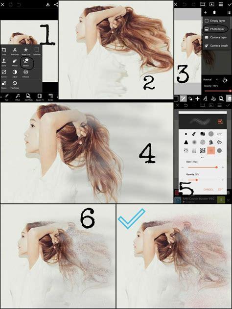 tutorial edit pakai picsart how to use the dispersion tool on picsart picsart