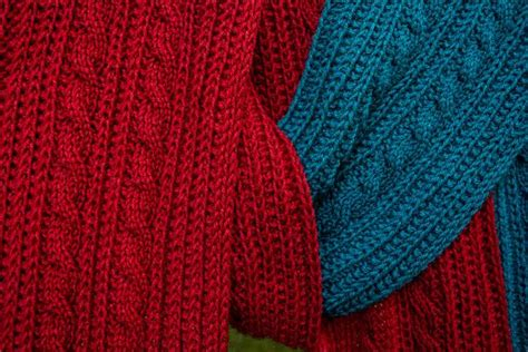 reversible knitting patterns reversible cable scarf knitting patterns and crochet