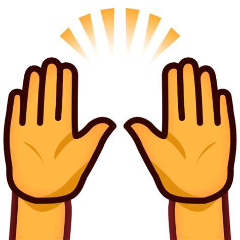 celebration emoji png person raising both hands in celebration emoji for