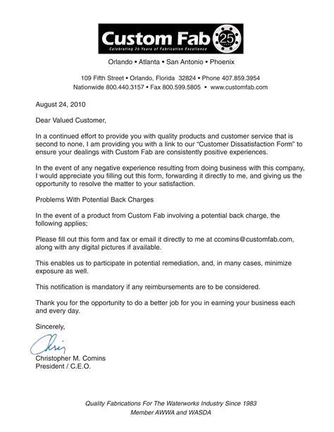 Customer Letter Of Dissatisfaction custom fab custom fab s news page 2