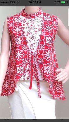 top blouse batik songket womanbaju atasan vintage plus accesories model cardigan batik vest tanpa lengan motif kelengan 2018