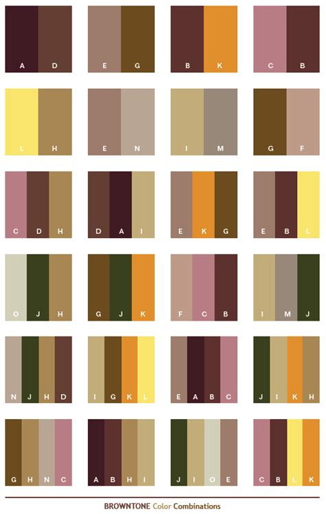 what colors go with dark brown color schemes brown tone color schemes color