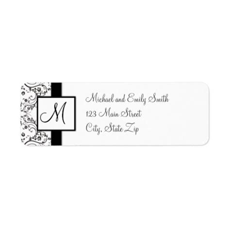 return address templates free monogram return address labels zazzle