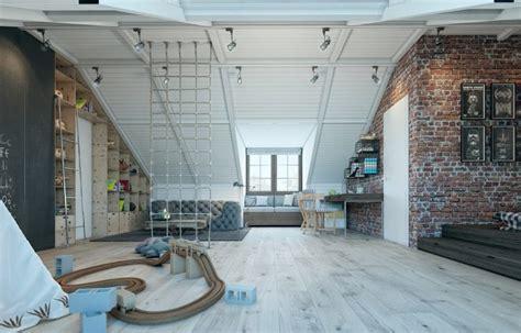loft room creative attic industrial loft room for a boy