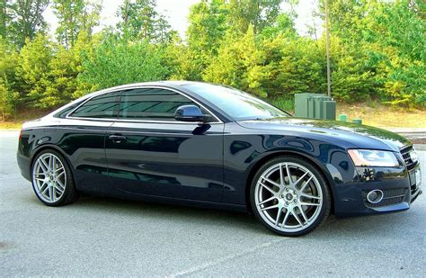 Audi A5 20 by Audi A5 With 20 Inch Brushed Titanium Forgestar F14