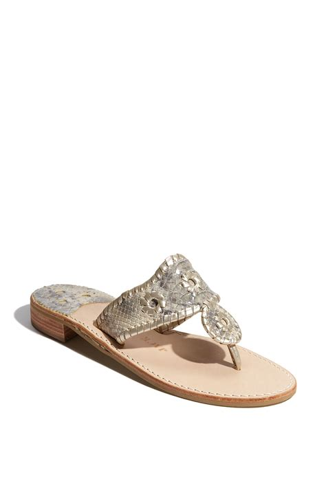 rogers sandals silver rogers htons navajo sandal in silver platinum lyst