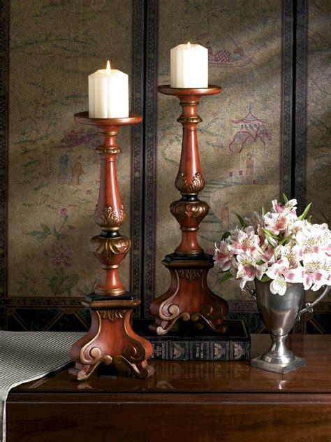 birch home decor birch finish porcelain tri pod pillar candleholder home decor