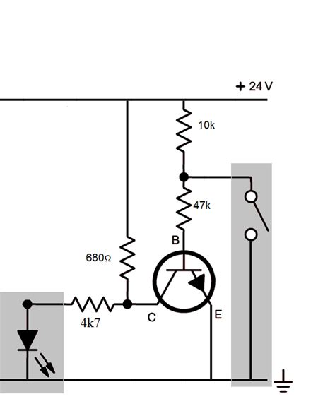 transistor load vs switch transistors convert no switch to nc electrical engineering stack exchange