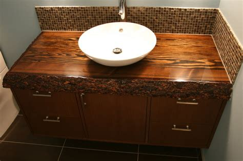 bathroom vanity wood top custom wood top vanity