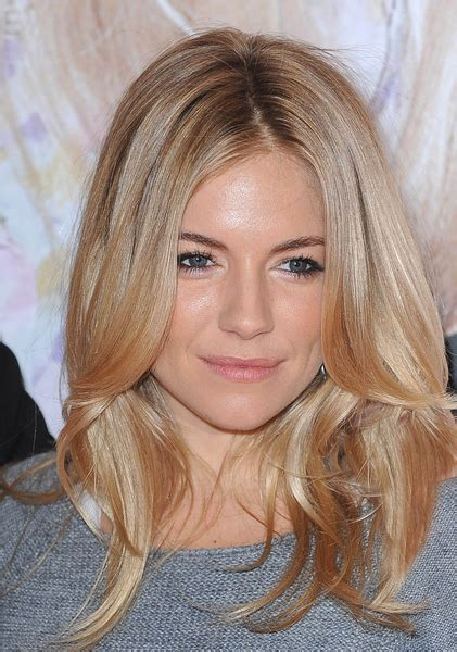 hairstyles left down long hairstyles perfect blonde sienna miller and blondes