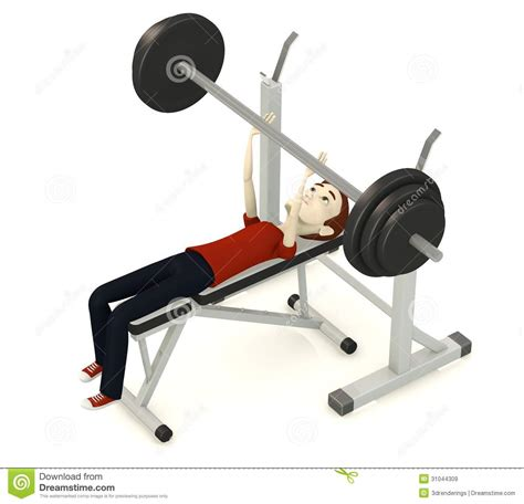 cartoon bench press cartoon man with benchpress royalty free stock images