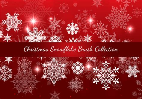 pattern photoshop noel christmas snowflake brush collection free photoshop