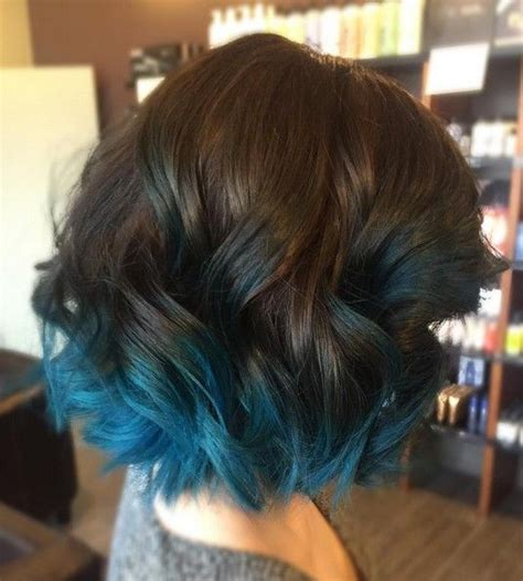 ombre hair color technique on older women 18 beautiful blue ombre colors and styles lob hair