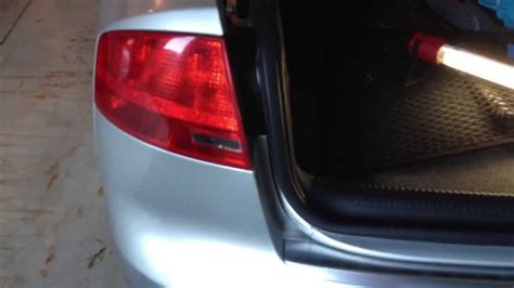 audi b7 tail lights audi b7 a4 diy outer tail light replacement youtube