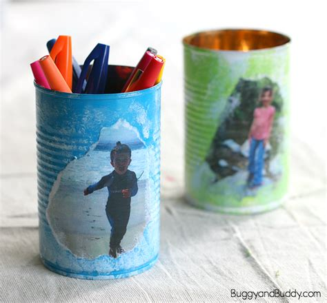 personalized crafts personalized tin can pencil holder craft for s day