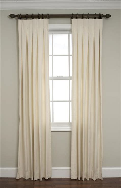 box pleat curtains calico inverted box pleated drapes