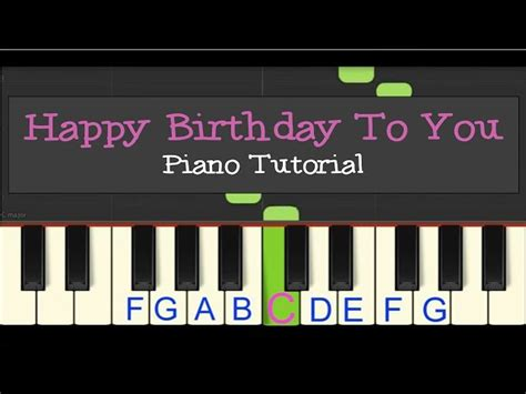 Keyboard Tutorial Happy Birthday | easy piano tutorial happy birthday to you mp3fordfiesta com