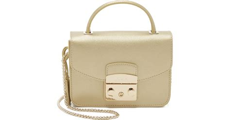 Furla Metropolis Top Handle Crossbody furla metropolis top handle mini cross bag gold in