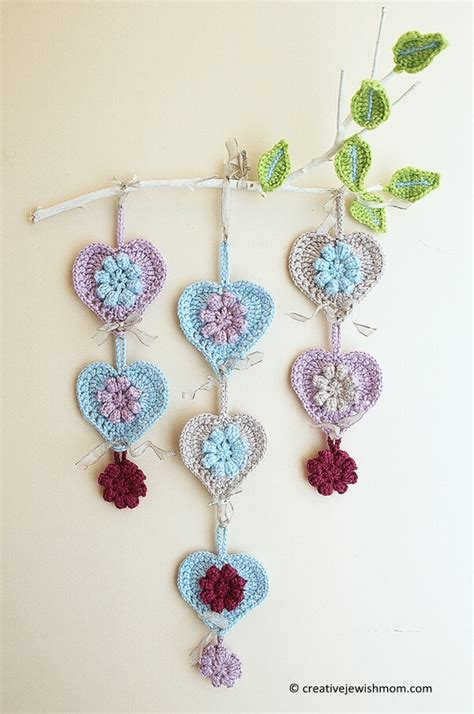 pattern for baby wall hanging messyla crochet heart share a pattern