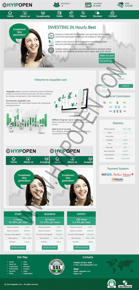 Script Hyip Ads iconhost easy and power web hosting html template