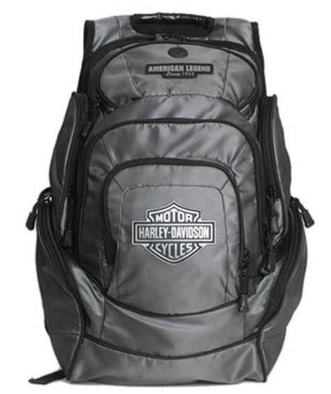 harley davidson mens chrome bar shield deluxe backpack bp1999s chrome